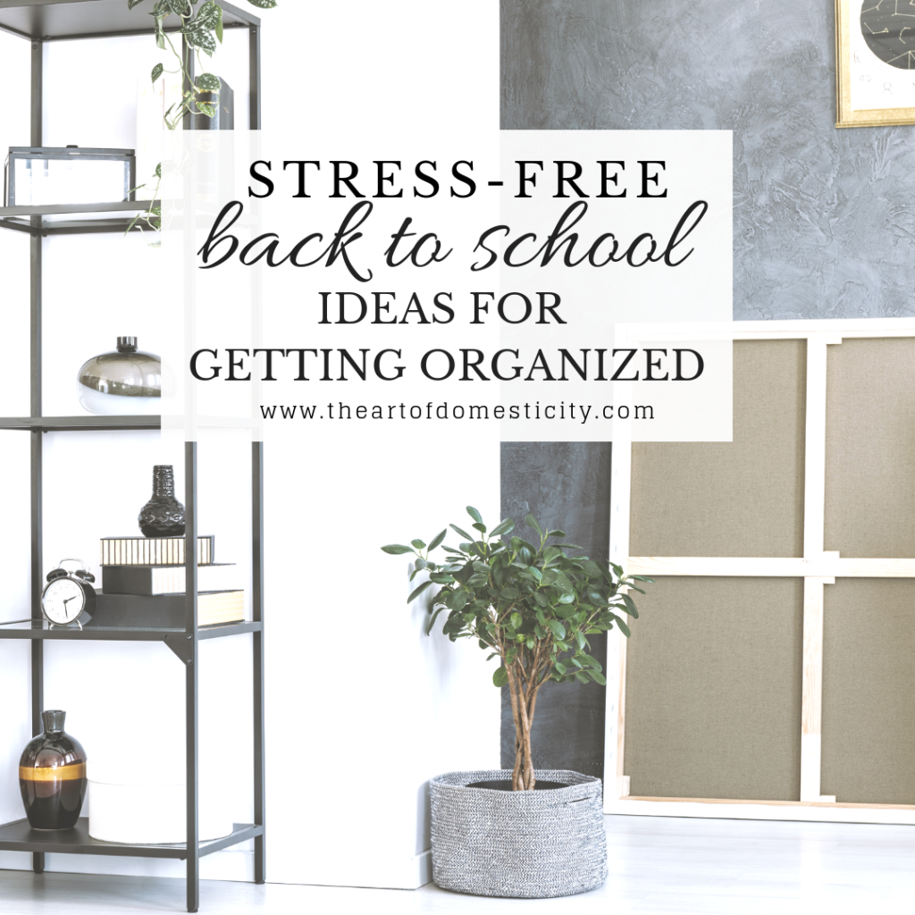 It's that time of year again!  With the school year fast approaching, we have some simple and practical ideas for getting and staying organized! We think you'll love them!