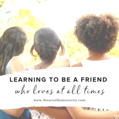 Learning to be a friend who loves at all times