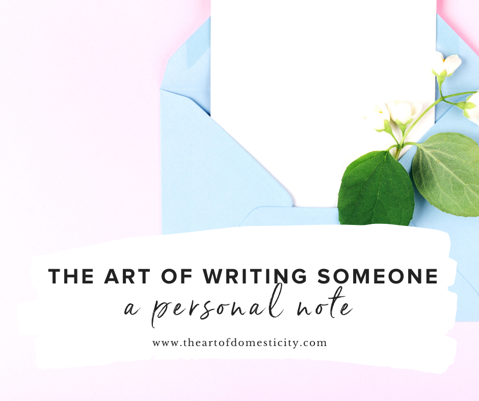 The Art of Writing Someone a Personal Note
