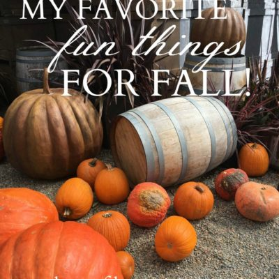 My Favorite Fun Things for Fall!