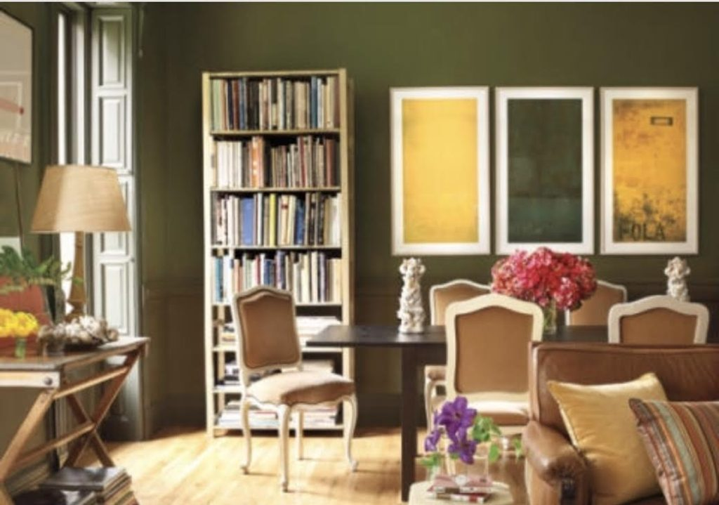 Designing with olive green the art of domesticity for Olive green dining room ideas