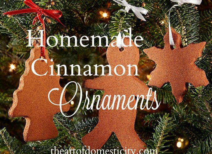 Homemade Cinnamon Ornaments for the Family