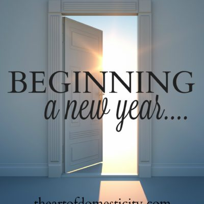 Beginning a New Year