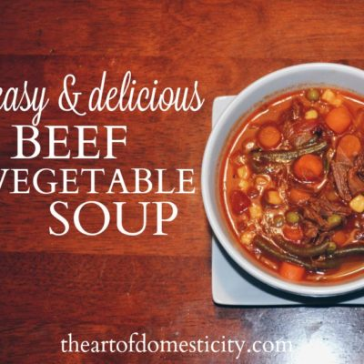 Easy & Delicious Beef Vegetable Soup