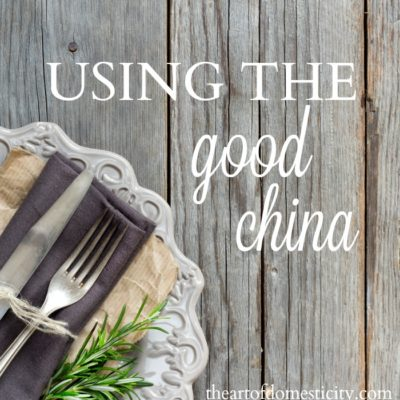 Using the Good China