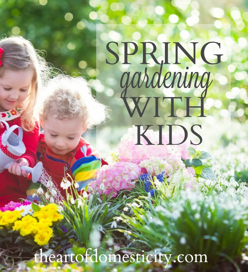 One of my favorite parts of spring is helping my kids appreciate the beautiful world God has created, and spring planting and gardening is a great way for that to happen. Kids are naturally curious about the world, and digging in the dirt is always fun!  Consider one of these projects to get your kids excited about the changing seasons and the beautiful gifts God has given us...