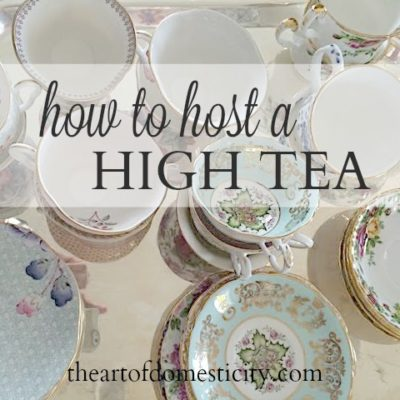 "How to Host a ""High Tea"""