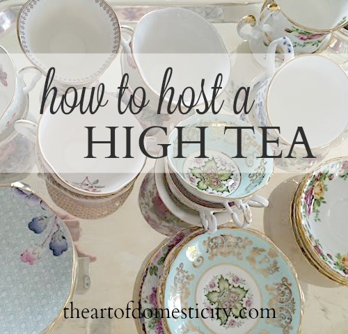 When thinking about hosting a tea party, do you find yourself overwhelmed with thoughts of scenes from Alice in Wonderland, Victorian decor, Royal ladies and pinky fingers stuck up in the air? Well, I am breaking it down for you into an easy step by step guide to having your very own high tea! You will love how easy it really is....