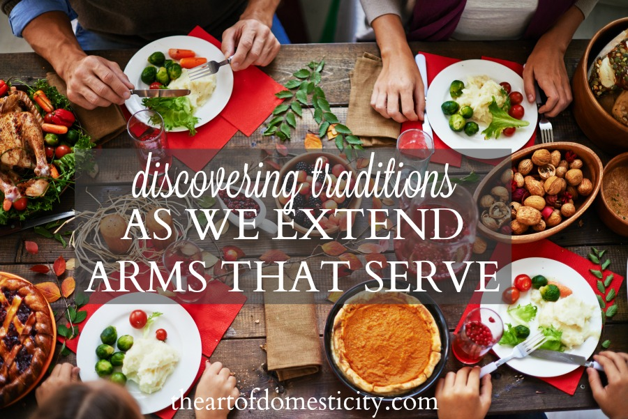 Sometimes we tend to believe that our traditions are just something within our family—something we need to keep close to home. Yet as we take our children into the community, we are reminded of all the things we can be thankful for—the fact that Jesus is present and available to all of us. As we step out we can also learn to be thankful for what God is able to do through us. He wants to walk out His love to our community, and sometimes He asks us to be His hands and feet....