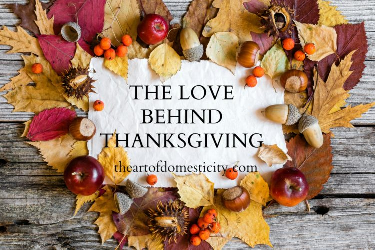 The Love Behind Thanksgiving