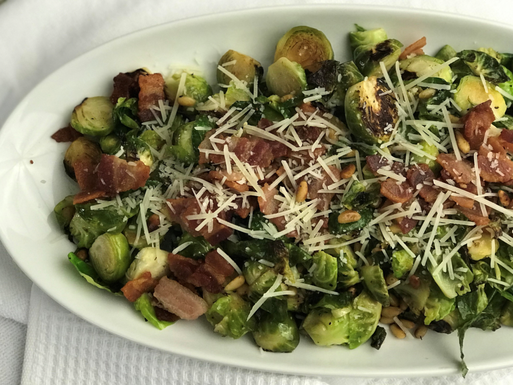 Are you looking for a delicious side to add to your holiday menu?? These sautéed brussel sprouts are simple to make but add a fancy flair to your table...not to mention they are SO good!