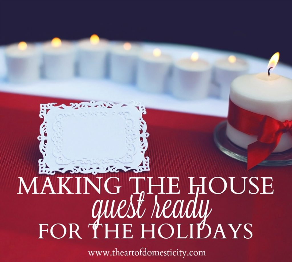 Do you have guests coming for the holidays??? We have a few lovely ideas to make your house guest ready this season....