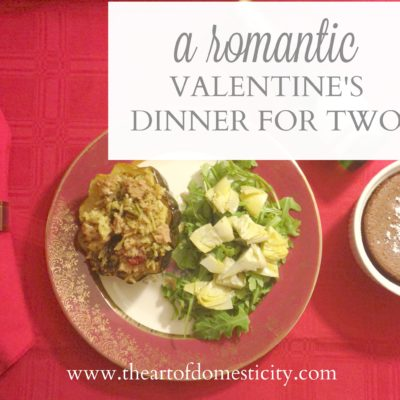 A Romantic Valentine's Dinner for Two