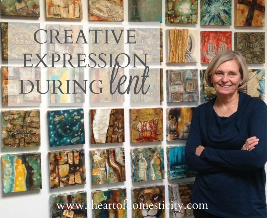 Lent is an opportunity to draw closer to the Lord by giving him the gift of your attention. Today we share a beautiful way a friend of ours has observed lent through creative expression....