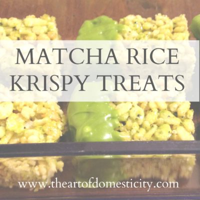 Matcha Rice Krispy Treats