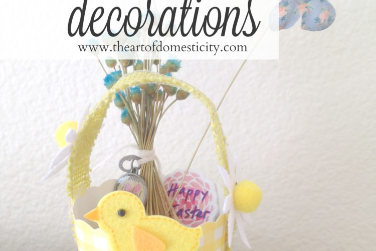 Mini Easter Basket Table Decorations
