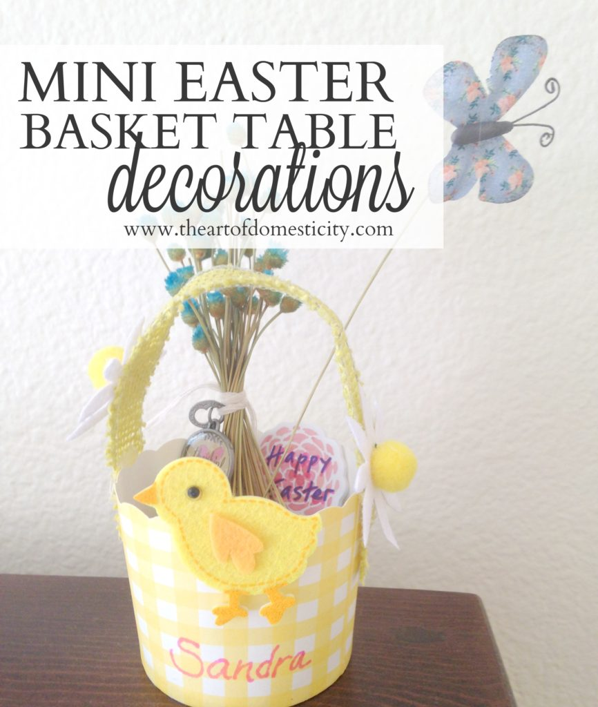 Add a fun flair to your Easter table with these decorative mini Easter baskets!