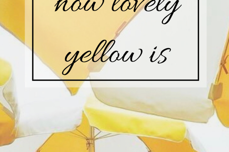 How Lovely Yellow Is