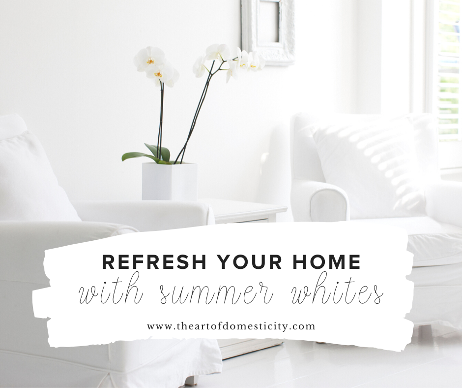 Are you looking for a simple way to give your home a fresh look for summer? Why not lighten up the palette and refresh your home with summer whites!