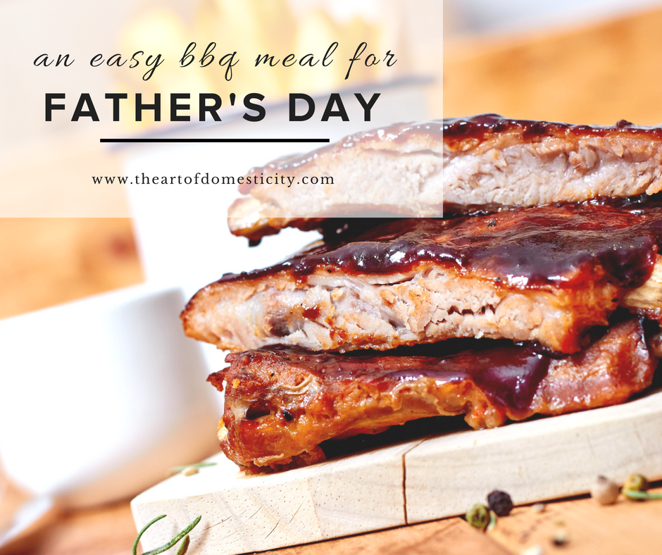 Are you looking for an easy and delicious meal to celebrate the men in your life? We have it all planned out for you! Ribs, twice baked potatoes and more! Look no further!