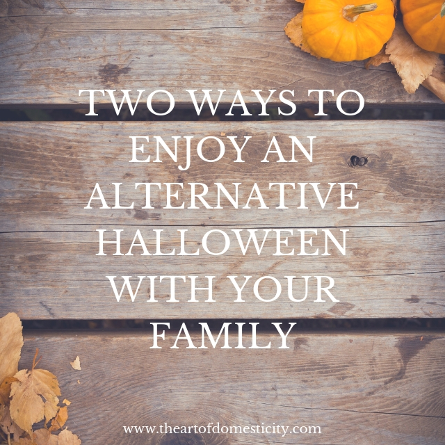 Are you looking for fun ways to celebrate the Fall season without the ghosts and goblins? Here are two ways to enjoy an alternative halloween with your family!