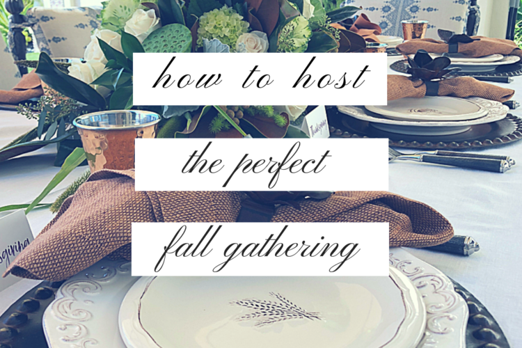 How to Host the Perfect Fall Gathering {from food to decor!}