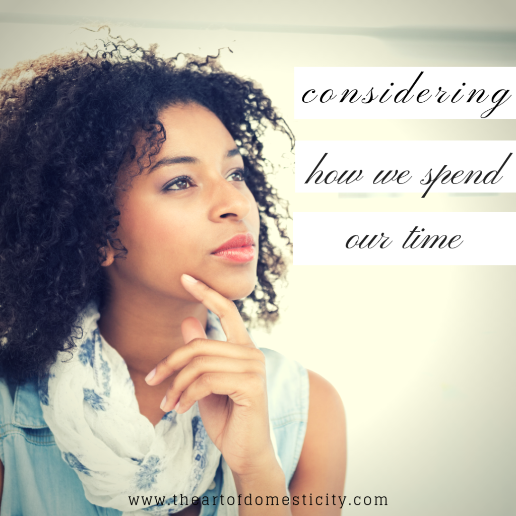 How we spend our time matters. Won't you join me in a prayerful commitment to renewing the attitudes of our hearts and reimagining our schedules so that we can truly serve the Lord with our time?