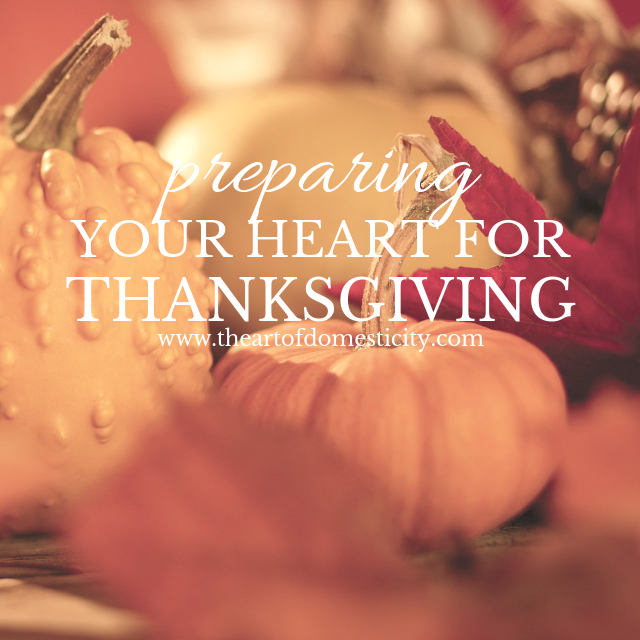 Thanksgiving week is an opportunity for us to stop and really reflect on all we have to be thankful for. Take this week to really soak in all there is to be grateful and pass the blessing along as you prepare your heart for thanksgiving!