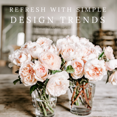Refresh with Simple Design Trends