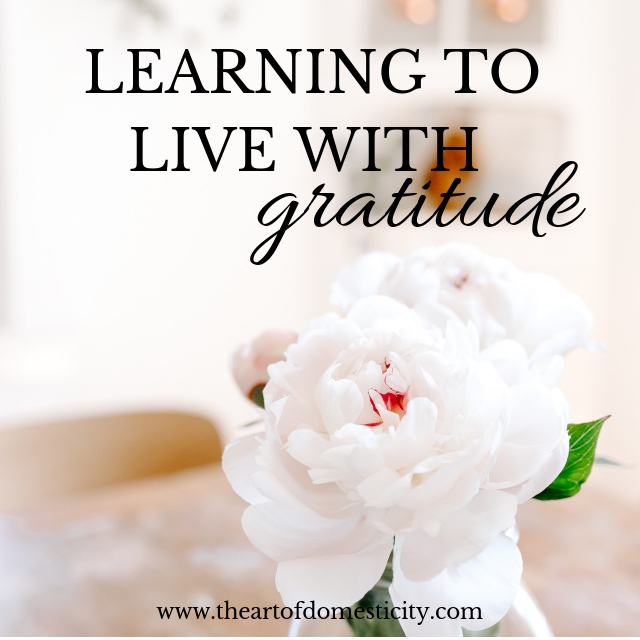 Life can be hard, but no matter what a season brings we have a choice as to how we will live. Will you learn to live gratefully no matter what?
