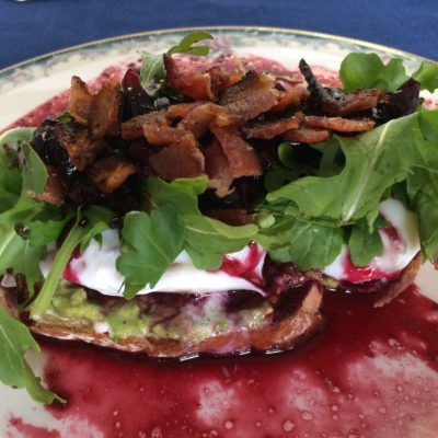 Delicious Mother's Day Cherry-Balsamic  Toast