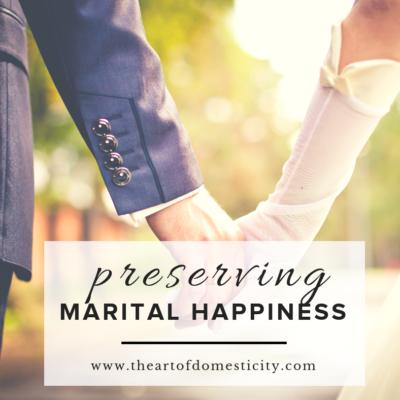 Preserving Marital Happiness