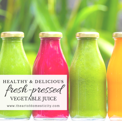 Healthy & Delicious Fresh Pressed Vegetable Juice