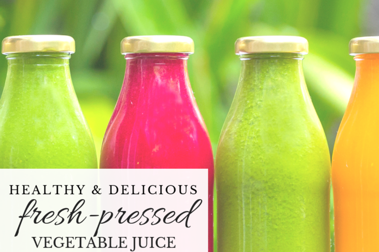 Healthy and Delicious Fresh-Pressed Vegetable Juice