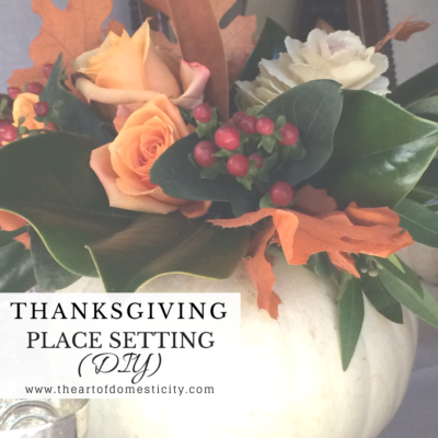 Thanksgiving Place Setting (DIY)