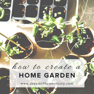 How to Create a Home Garden