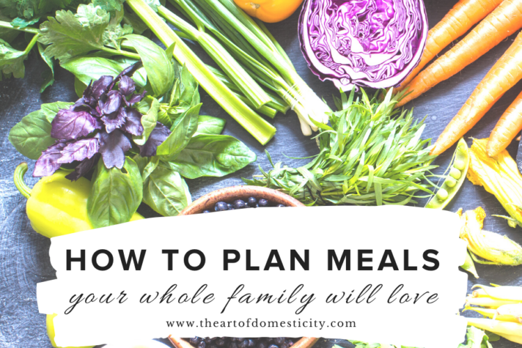 Meal planning can be really hard - especially with a family! Here is your step by step guide for making meals your whole family will love!!