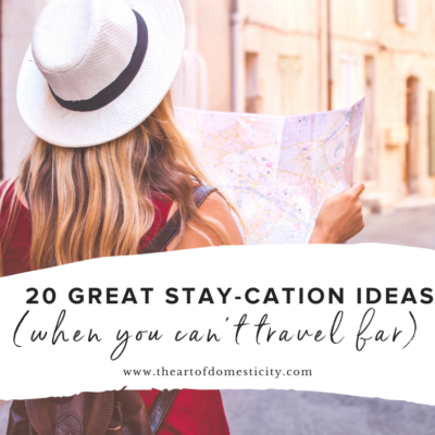 20 Great Stay-cation Ideas (when you can't travel far)
