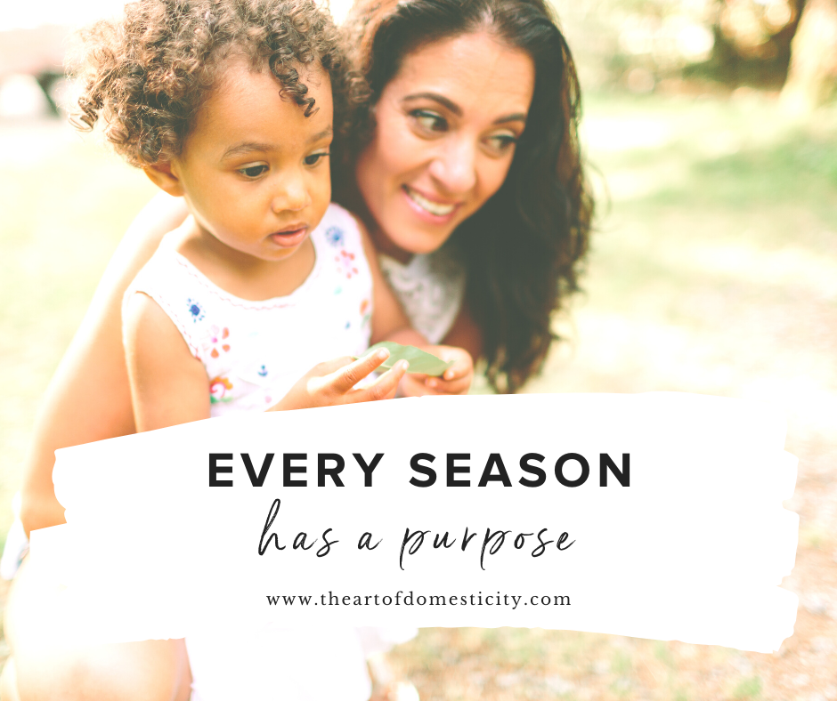 Do you want to be a mother who exhibits love, joy, peace patience, kindness, goodness, faithfulness, gentleness, and self-control with her children on a consistent basis? I want to encourage you today that every single season has a purpose in a motherhood....