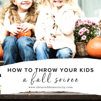 How to Throw Your Kids a Fall Soiree